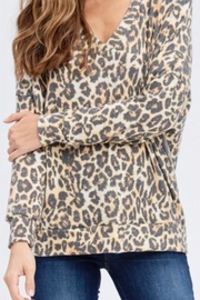 Maronie  Cheetah Long-Sleeved Top - Product Mini Image