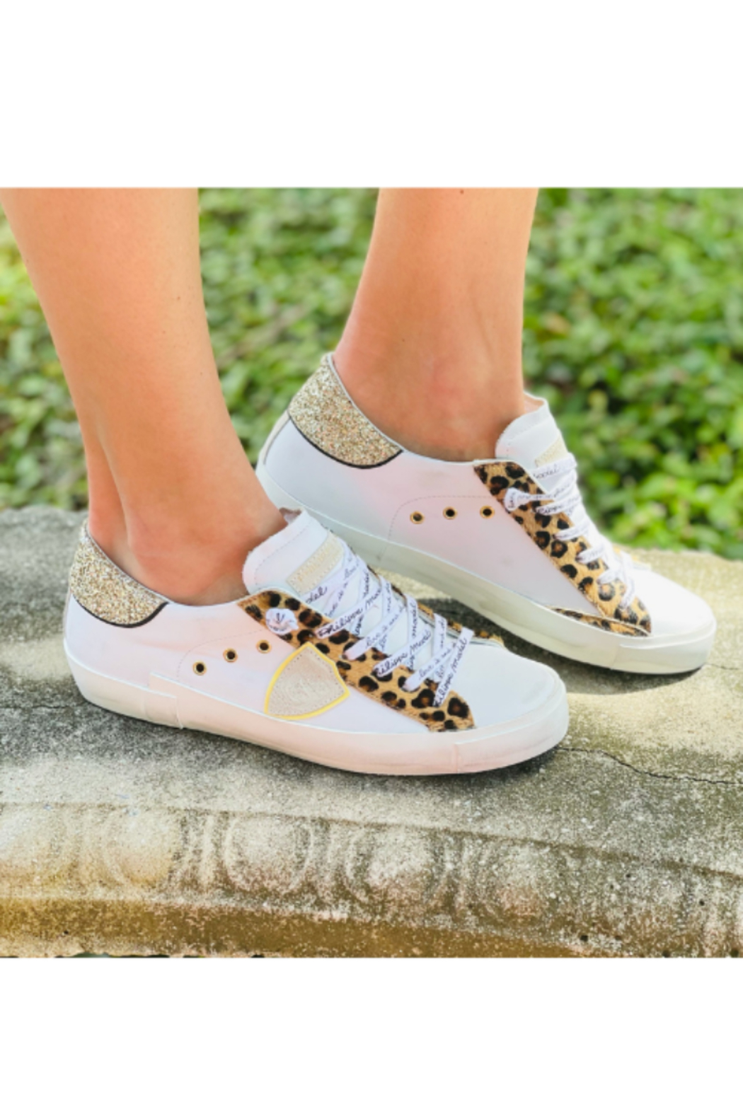 Phillippe Model Cheetah Low Top with Glitter - Main Image