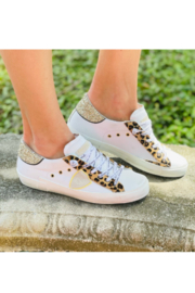 Phillippe Model Cheetah Low Top with Glitter - Front cropped
