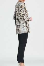 Clara Sunwoo Cheetah Ombre Cut-out Back Knit Tunic - Front full body