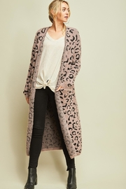 Entro Cheetah Print Cardigan - Front cropped