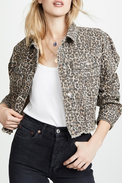 Shoptiques Product: Cheetah Print Denim-Jacket