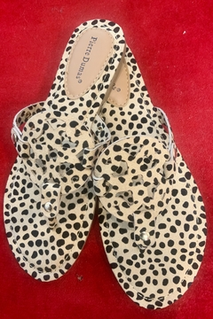 Pierre Dumas Cheetah Print Designer Inspired Sandals - Product List Image