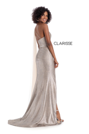 CLARISSE Cheetah Print Gown - Front full body