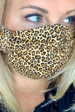 deannas Cheetah Print Mask with Rhinestone accents - Alternate List Image
