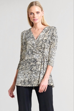 Clara Sunwoo Cheetah Print Side Tie Wrap Tunic - Product List Image