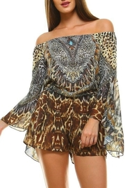 Dazzling Cheetah Printed Romper - Product Mini Image