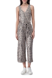 B Collection by Bobeau Cheetah Ribbed Jumpsuit - Front cropped