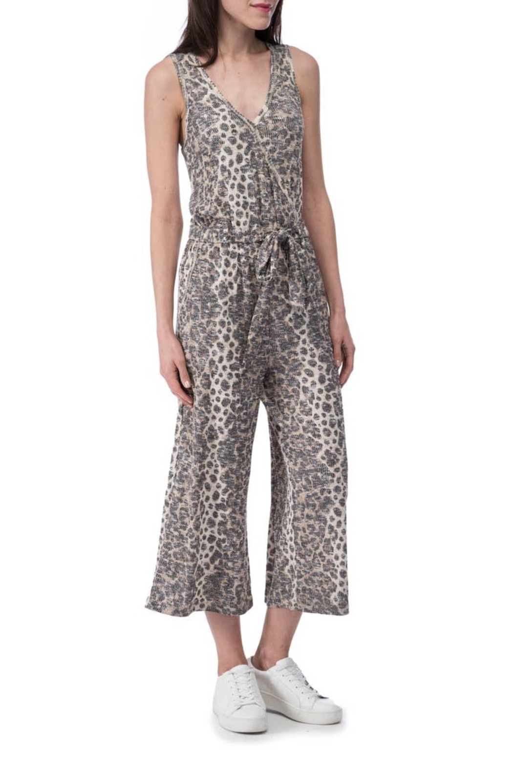 B Collection by Bobeau Cheetah Ribbed Jumpsuit - Side Cropped Image
