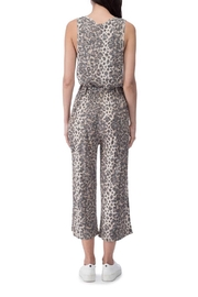 B Collection by Bobeau Cheetah Ribbed Jumpsuit - Front full body