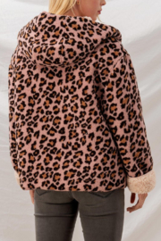 Trend Notes  Cheetah Sherpa Jacket - Back cropped