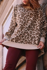 Free People Cheetah Sweater - Front cropped
