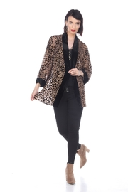 Aris A Cheetah Velvet Cardigan - Product Mini Image