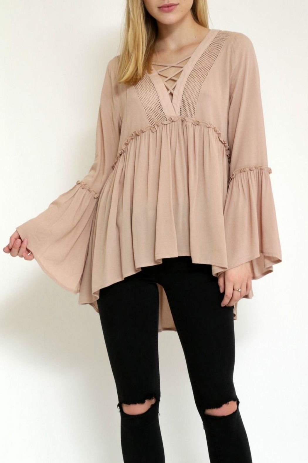 1 Funky Chelsea Flowy Top - Front Cropped Image