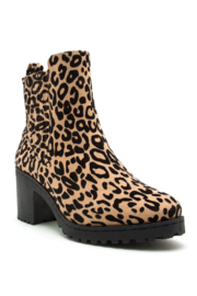 Qupid Chelsea Leopard Booties - Product Mini Image
