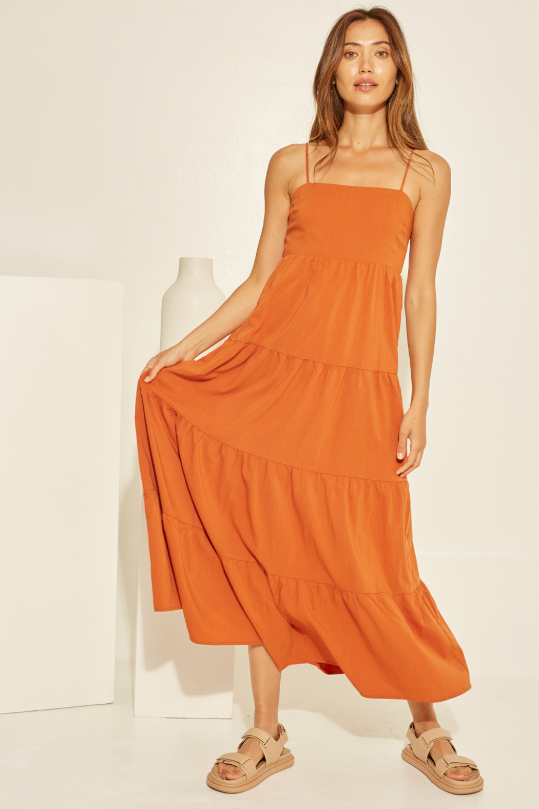 crescent Chelsea Tiered Dress - Main Image
