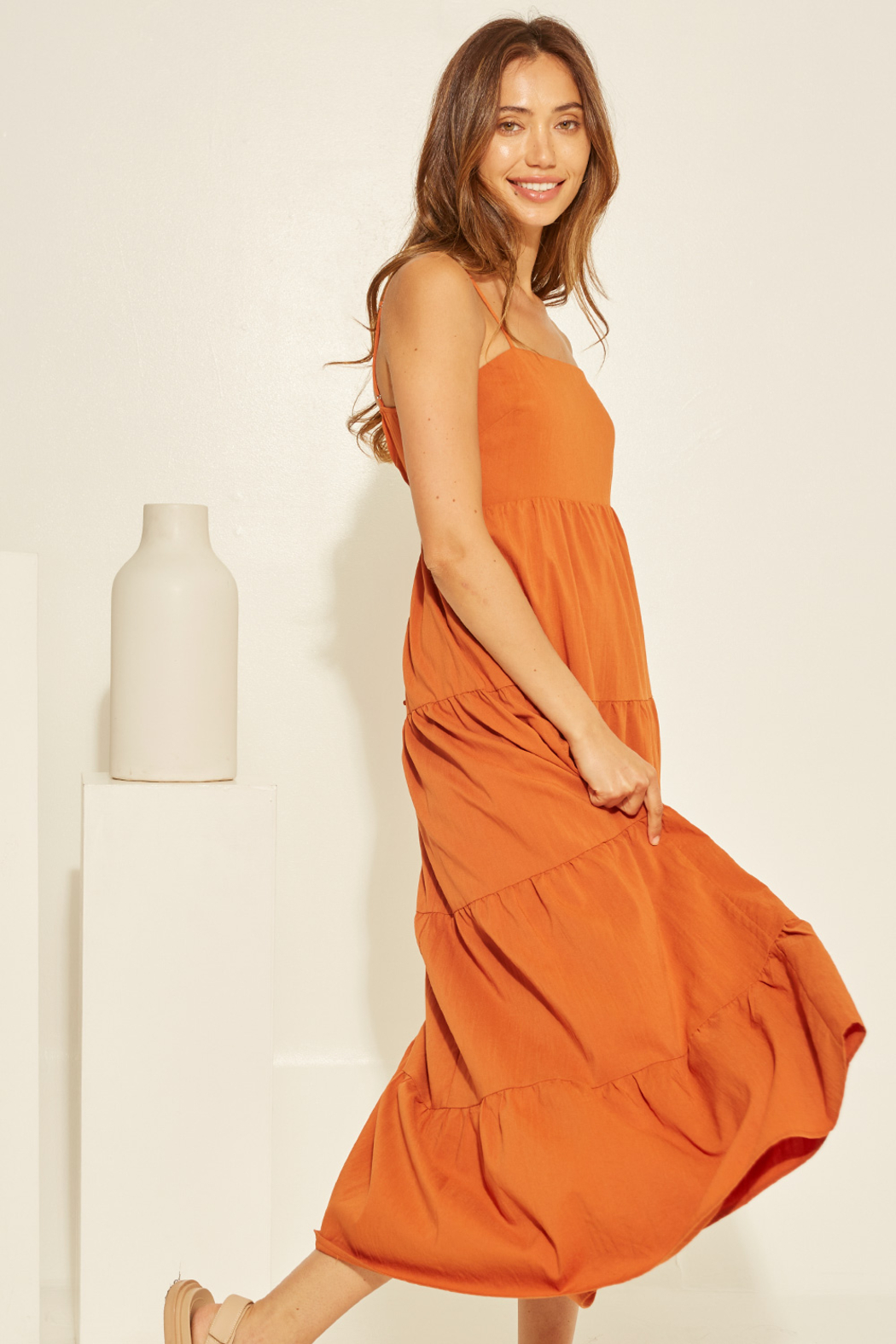 crescent Chelsea Tiered Dress - Front Full Image