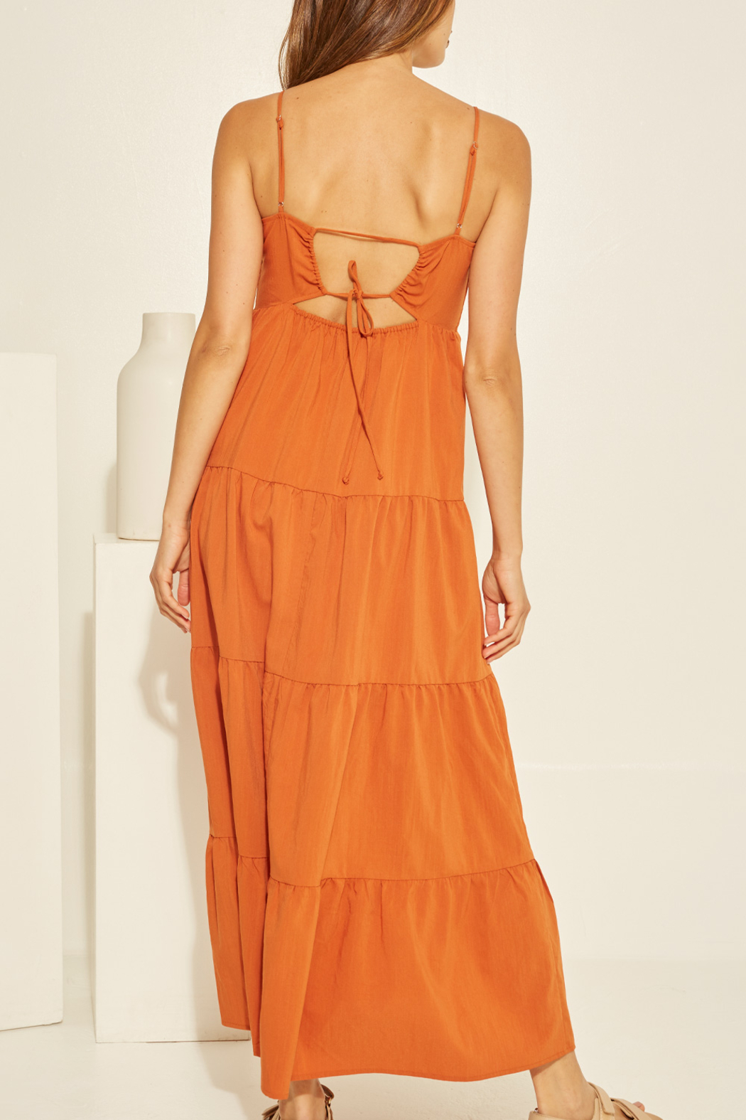 crescent Chelsea Tiered Dress - Side Cropped Image