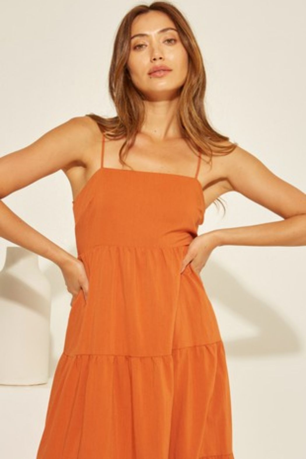 crescent Chelsea Tiered Dress - Back Cropped Image