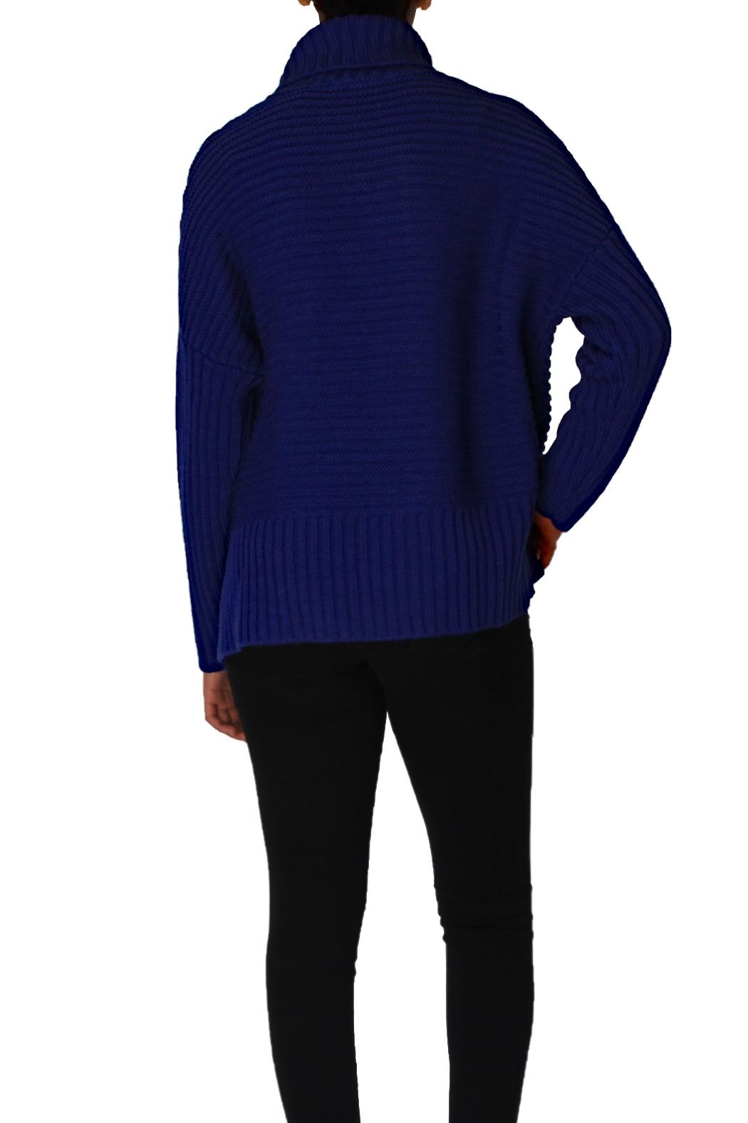 Chelsea & Theodore Turtleneck Dolman Sleeve Sweater - Front Full Image