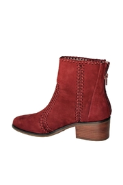 Chelsea & Violet Lucy Suede Crochet-Detail Bootie - Front full body
