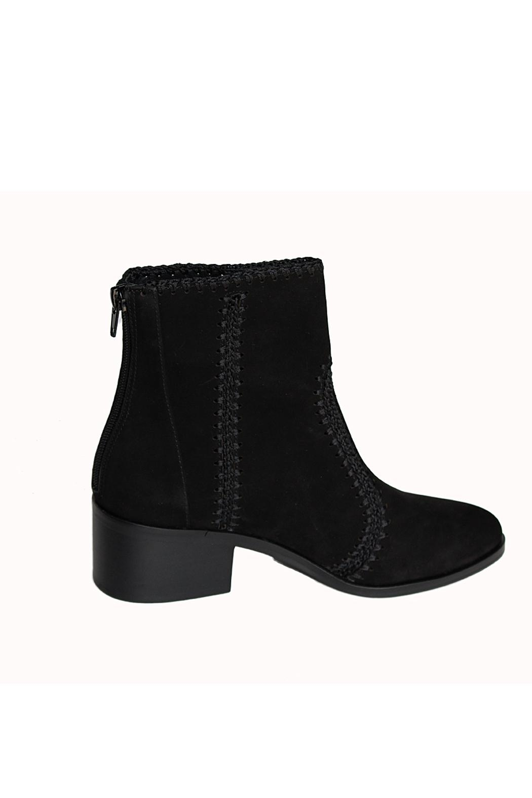 Chelsea & Violet Lucy Suede Crochet-Detail Booties - Side Cropped Image