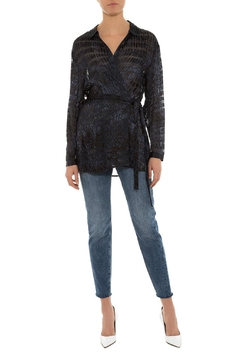 Chelsea and Walker  Ivy Burnout Wrapblouse - Product List Image
