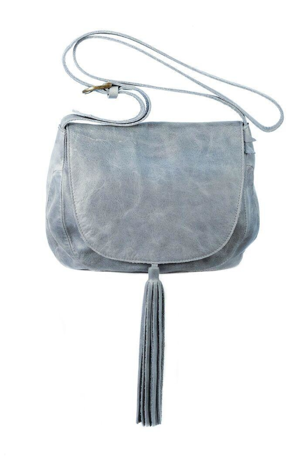 Chen & Derington Leather Cross Body Bag - Front Cropped Image