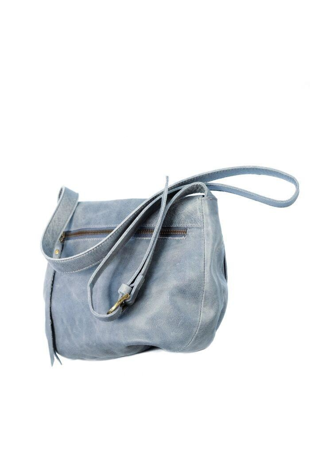 Chen & Derington Leather Cross Body Bag - Side Cropped Image