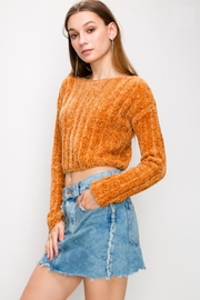 TIMELESS Chenile Crop Sweater - Product Mini Image