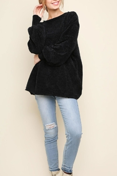 Shoptiques Product: Chenille Boat-Neck Sweater