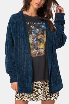 Motel Rocks Chenille Boyfriend Cardi - Product List Image