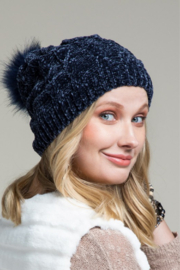 Urbanista Chenille Cable Knit Hat - Front cropped