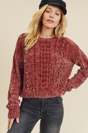In Loom CHENILLE CABLE KNIT SWEATER - Front cropped