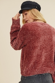 In Loom CHENILLE CABLE KNIT SWEATER - Front full body