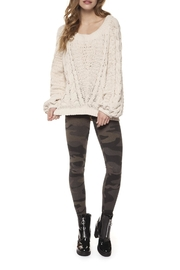 Dex Chenille Cable-Knit Sweater - Product Mini Image