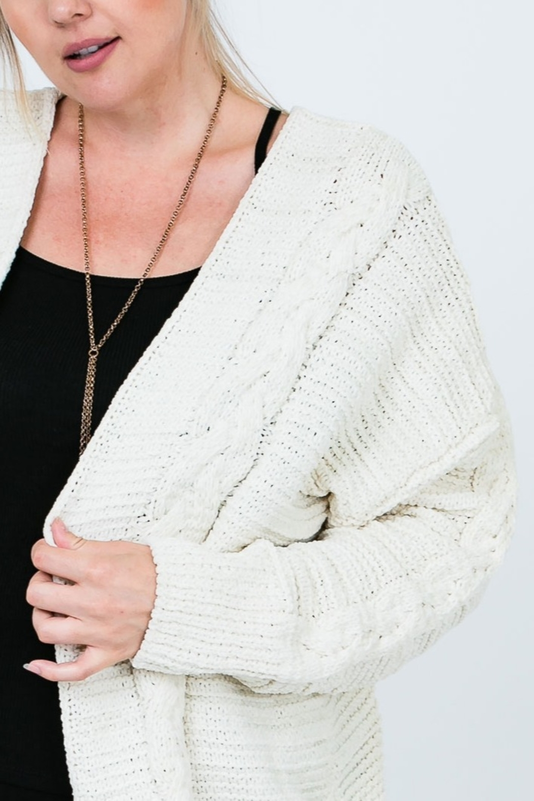 Cozy Casual Chenille Cardi - Front Full Image