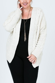 Cozy Casual Chenille Cardi - Front cropped