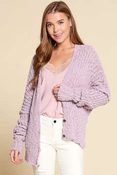Dani Collection Chenille Cardigan - Alternate List Image