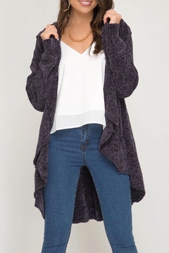 LuLu's Boutique Chenille Cardigan - Product List Image