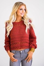 Karlie Chenille Crop Sweater - Product Mini Image