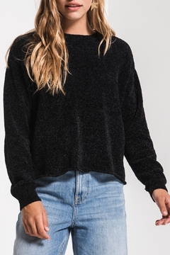 rag poets Chenille Cropped Pullover - Product List Image