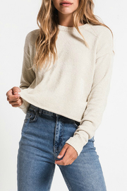 rag poets Chenille Cropped Pullover - Product Mini Image