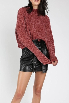 Shoptiques Product: Chenille Cropped Sweater