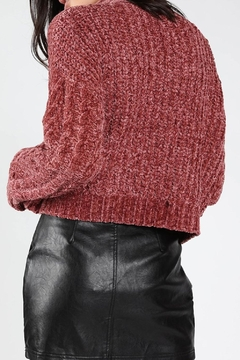 Honey Punch Chenille Cropped Sweater - Alternate List Image