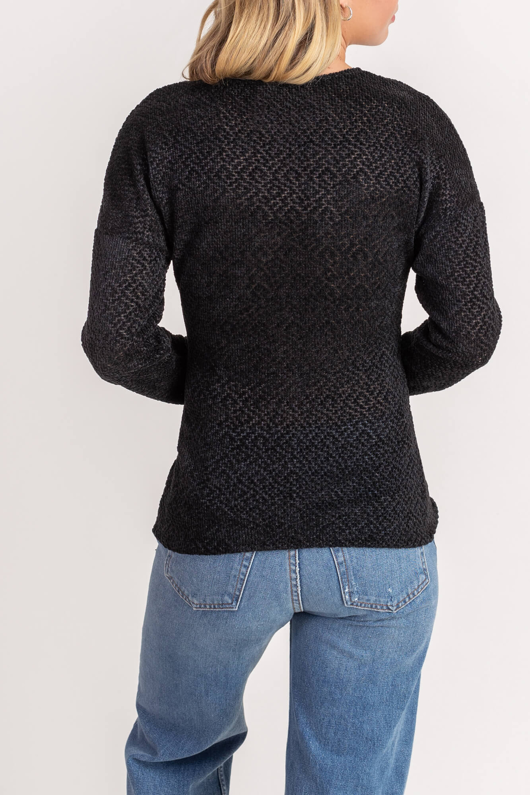 Lush  Chenille Cross Front Sweater - Front Full Image