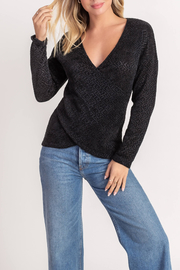 Lush  Chenille Cross Front Sweater - Product Mini Image