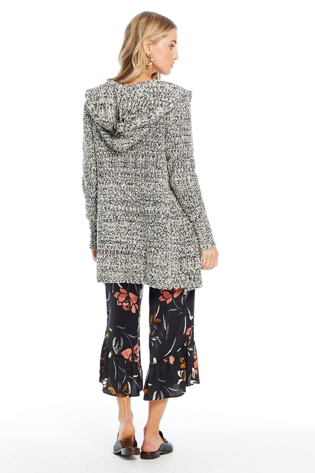 Saltwater Luxe Chenille Hooded Cardigan - Side Cropped Image
