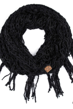 Shoptiques Product: Chenille Infinity Scarf Featuring Fringe Tassels