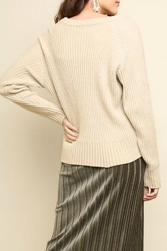 Umgee USA Chenille Lace-Up Sweater - Alternate List Image